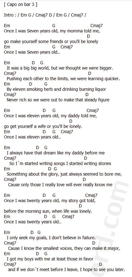 คอร์ดเพลง 7 Years - Lukas Graham