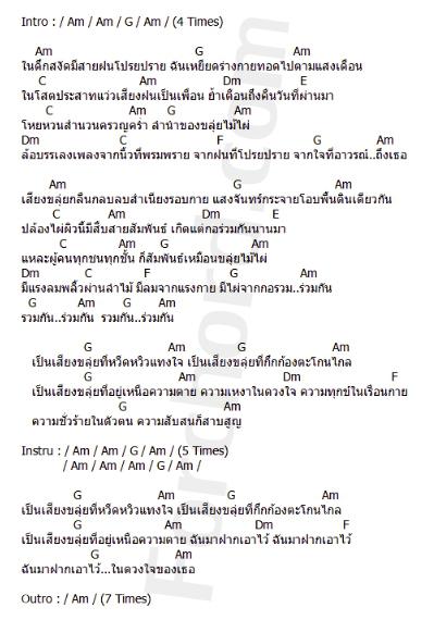 คอร์ดเพลง ไม้ไผ่ - คาราบาว (ver.โฟล์ค บาว)