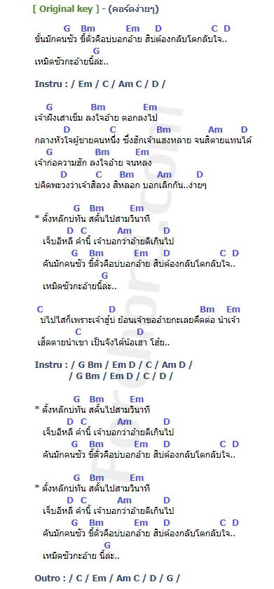 คอร์ดเพลง สตั้น (เบิดซั่วกะอ้ายนี่ละ) - รามิล ต้นแก้ว (คอร์ด ง่ายๆ)