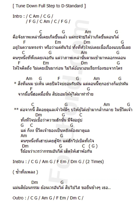 คอร์ดเพลง สายแนนหัวใจ Ost.นาคี2 - ก้อง ห้วยไร่ (คอร์ด ง่ายๆ)
